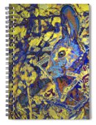 Rabbit In Brush Spiral Notebook