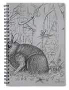 Rabbit In Woodland Spiral Notebook
