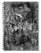 Rabelais: Gargantua And Pantagruel.  Illustration Of The Life Of Gargantua And Of Pantagruel By Fran�ois Rabelais. Wood Engraving, 1873, After Gustave Dor� Spiral Notebook