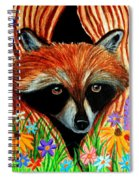 Raccoon And Butterfly Spiral Notebook