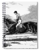 Race Horse, 1857 Spiral Notebook