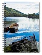 Radiant Blue Spiral Notebook