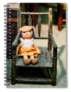 Rag Doll In Chair Spiral Notebook