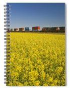Rail Cars Carrying Containers Passe Spiral Notebook