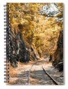 Rail Road Cut Spiral Notebook