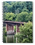 Railroad Bridge At East Falls Philadelphia Spiral Notebook