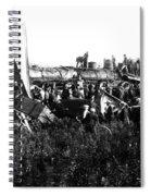 Railroad Collision Spiral Notebook