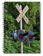 Railroad Crossing Light And Greenery Spiral Notebook