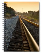 Railroad Tracks At Sundown Spiral Notebook