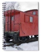 Railroad Train Red Caboose Spiral Notebook