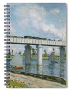 Railway Bridge At Argenteuil Spiral Notebook