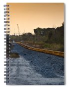 Railway Into Town Spiral Notebook