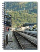 Railway Station West Interlaken Switzerland Spiral Notebook