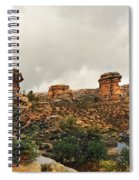 Rain At The Needles District Spiral Notebook