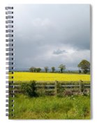Rain Clouds Over Canola Field Spiral Notebook