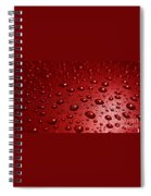 Rain Drops Bloody Red  Spiral Notebook