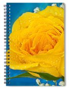 Rain On A Yellow Rose Spiral Notebook