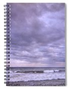 Rain Storm At The Sea Spiral Notebook