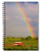 Rainbow And Red Barn Spiral Notebook