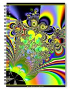 Rainbow Butterfly Bouquet Fractal 56 Spiral Notebook