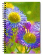 Rainbow Colored Weed Daisies Spiral Notebook