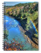 Rainbow On A Beautiful Oct Day Spiral Notebook