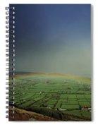Rainbow Over Fields In Slieve Gullion Spiral Notebook