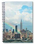 Rainbow Over Manhattan Spiral Notebook