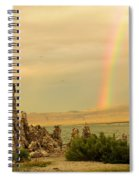 Rainbow Over Mono Lake Spiral Notebook