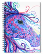 Rainbow Spotted Horse Spiral Notebook