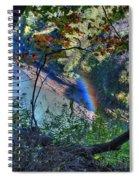 Rainbow Through The Rough Spiral Notebook