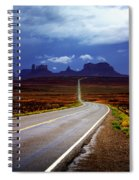 Rainclouds Over Monument Valley Spiral Notebook