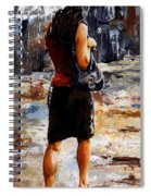 Rainy Day - Woman Of New York 04 Spiral Notebook