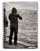 Rainy Day Fishing Spiral Notebook