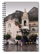 Rainy Day In Taormina Spiral Notebook