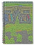 Rainy Day On The Links Spiral Notebook