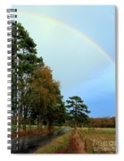 Rainy Day Rainbow Spiral Notebook