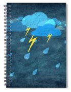 Rainy Day With Storm And Thunder Spiral Notebook