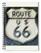 Rainy Night On Route 66 Spiral Notebook