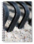Rake In Sand Spiral Notebook