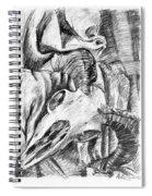 Ram Skull Still-life Spiral Notebook