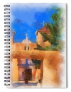 Ranchos Church Gate - Aquarell Spiral Notebook