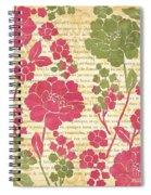 Raspberry Sorbet Floral 2 Spiral Notebook