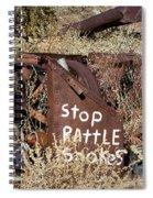 Rattlesnake Warning Spiral Notebook