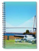 Ravanel Bridge At Patriot Point Charleston Sc Spiral Notebook