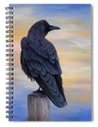 Raven Beauty Spiral Notebook