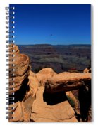 Raven Flying Near Ooh Aah Point Spiral Notebook
