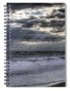 Rays Over The Atlantic Spiral Notebook