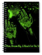 Reaching For The Stars Spiral Notebook