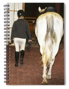 Ready For The Dressage Lesson Spiral Notebook